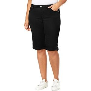 Style & Co. Womens Plus Mid-Rise Slim Fit Shorts